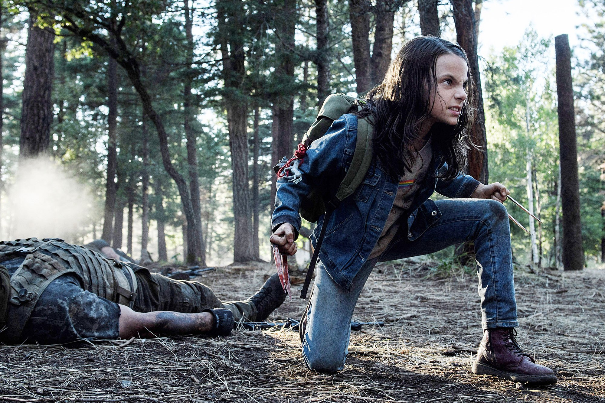 LOGAN, Dafne Keen, 2017. ph: Ben Rothstein/TM & copyright © 20th Century Fox Film Corp. All rights